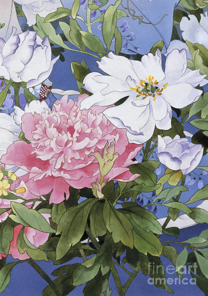 Kimono Digital Art - Syakuyaku Crop Iv by MGL Meiklejohn Graphics Licensing