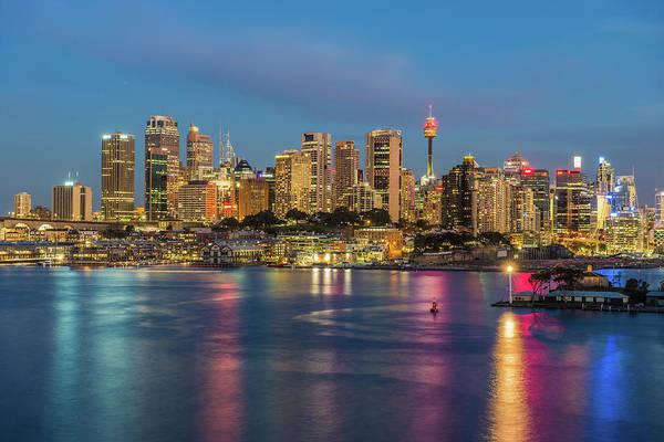 Keith Urban Wall Art - Photograph - Sydney Blue Hour by Keith Mcinnes Photography