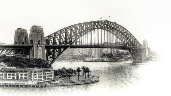 Photograph - Sydney Bridge In Black And White by Julie Palencia