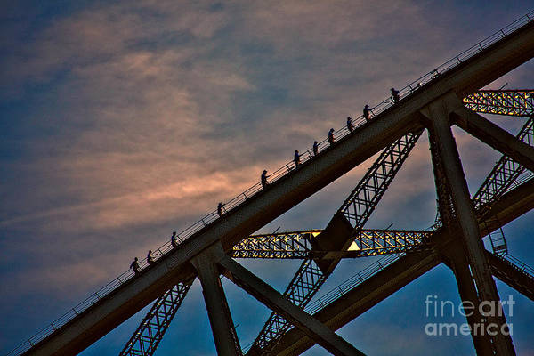 Wall Art - Photograph - Sydney Bridgeclimbers by Sheila Smart Fine Art Photography