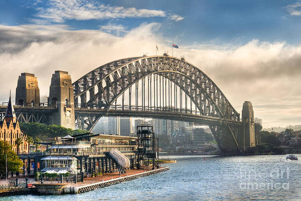 Photograph - Sydney Harbor Bridge Dawn by Ray Warren