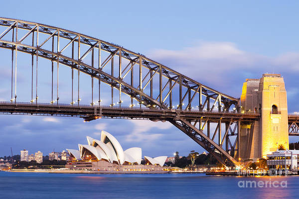 Wall Art - Photograph - Sydney Harbour Bridge And Opera House by Colin and Linda McKie