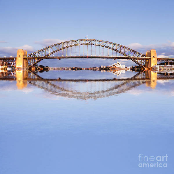 Wall Art - Photograph - Sydney Harbour Bridge At Twilight by Colin and Linda McKie