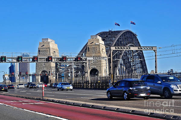 Wall Art - Photograph - Sydney Harbour Bridge - Perspective From Highway by Kaye Menner