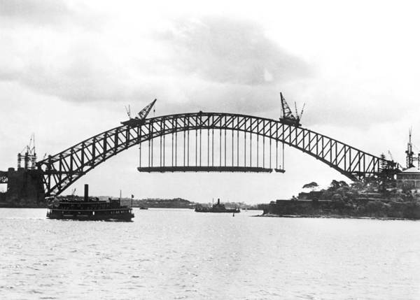 Wall Art - Photograph - Sydney Harbour Bridge by Underwood Archives
