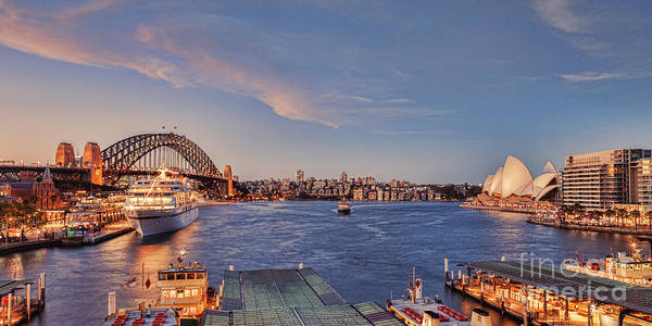 Wall Art - Photograph - Sydney Harbour By Night by Colin and Linda McKie