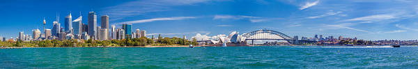 Light Blue Photograph - Sydney Harbour Skyline 1 by Az Jackson