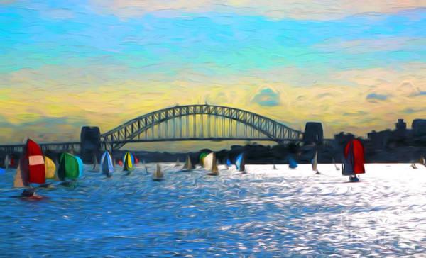 Wall Art - Photograph - Sydney Harbour Yacht Race by Sheila Smart Fine Art Photography