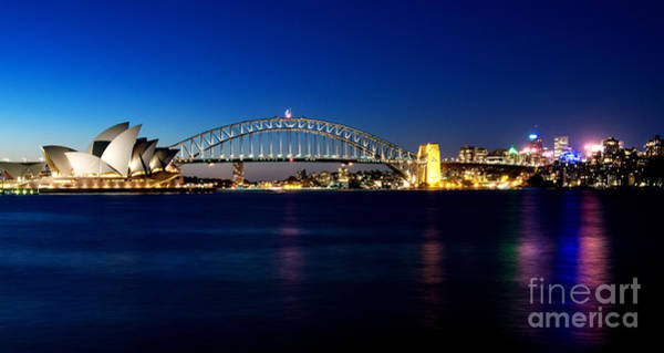 Photograph - Sydney Night Scenery by Yew Kwang