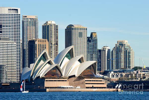 Sydney Opera House And Sydney Harbor - A Classic View Art Print