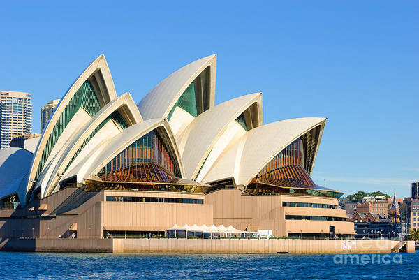 Sydney Opera House And Sydney Harbour Art Print