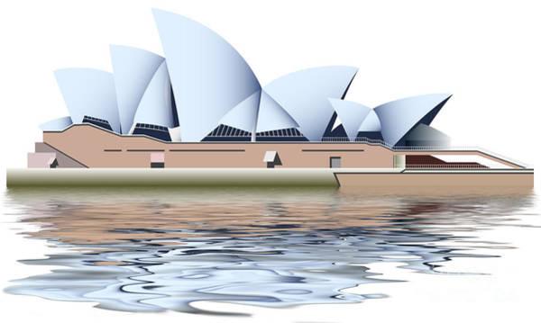 Mixed Media - Sydney Opera House by Michal Boubin