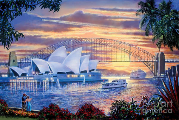Seaside Digital Art - Sydney Opera House by MGL Meiklejohn Graphics Licensing