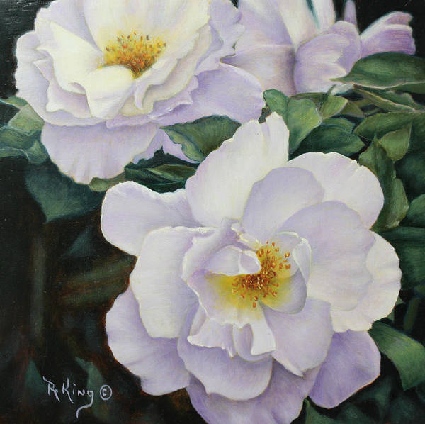 Wall Art - Painting - Sydneys Rose Oil Painting by Roena King