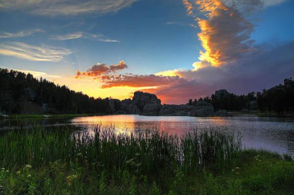 Sun Set Photograph - Sylvan Lake Sunset by Chris Allington