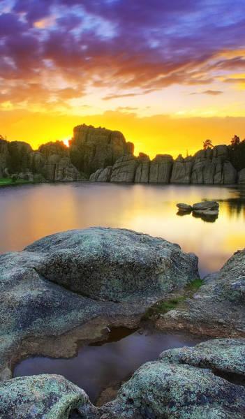 Wall Art - Photograph - Sylvan Lake Sunset by Kadek Susanto