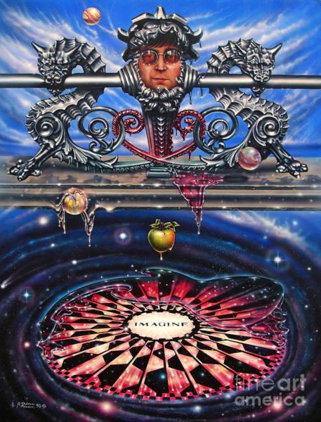 Nebulae Painting - Symbiotic Love by Ricardo Chavez-Mendez
