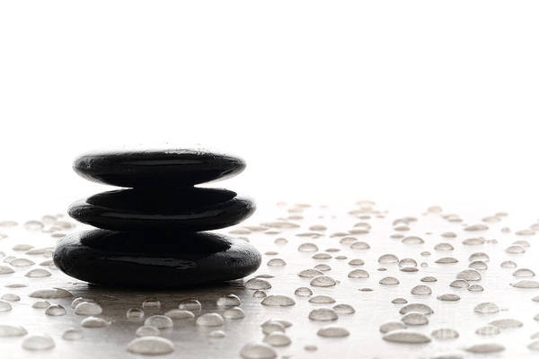 Photograph - Symbolic Zen Meditation Cairn by Olivier Le Queinec