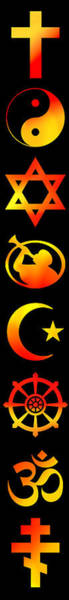 Wall Art - Digital Art - Symbols Of Religion by Daniel Hagerman