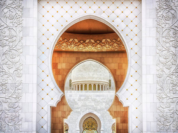 Mosque Photograph - Symmetrical by Mohamed Raof