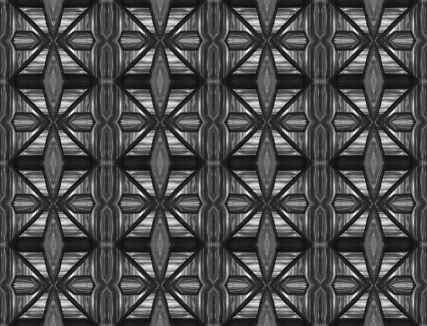 Painting - Symmetrical Repeating Pattern In Charcoal  by Barbara St Jean