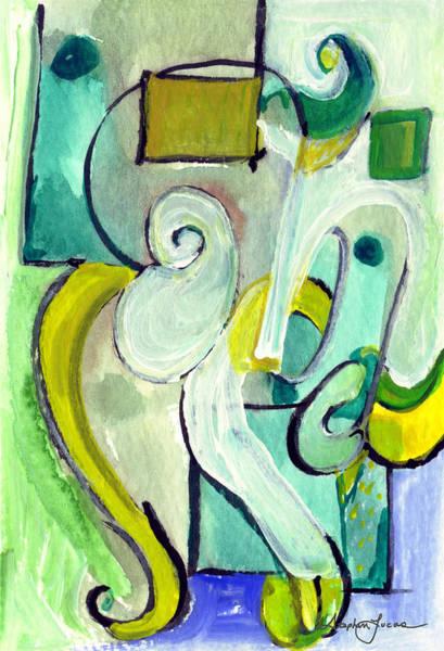 Symphony In Green Art Print