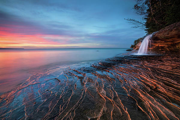 Lake Superior Photograph - Symphony Of Sunset by John Fan Photography