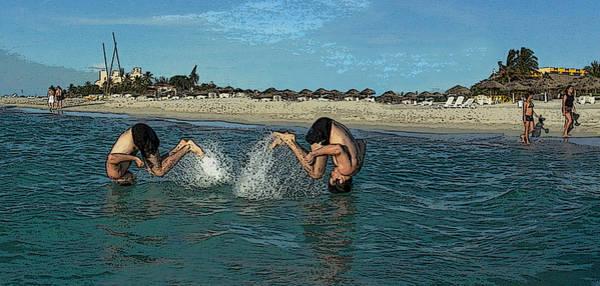 Photograph - Synchro Jump by Dragan Kudjerski