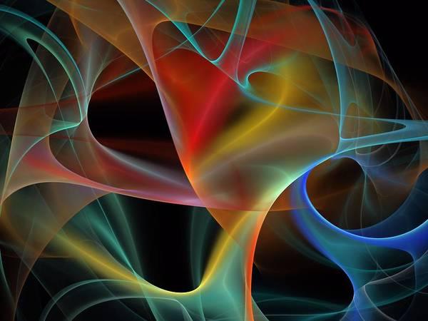Dive Bar Digital Art - Synchronization-panel-center-1bb by Bill Campitelle