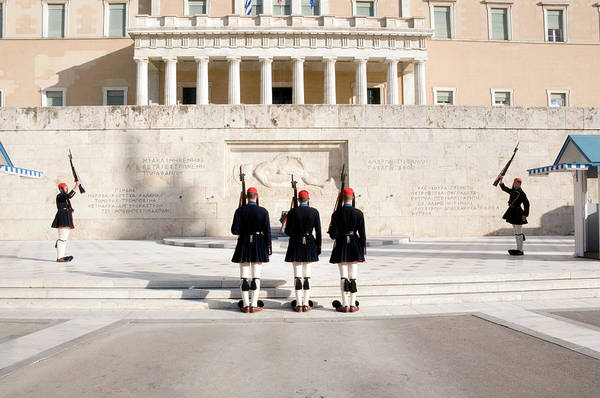 Honor Guard Photograph - Syntagma Square, Athens by Photostock-israel