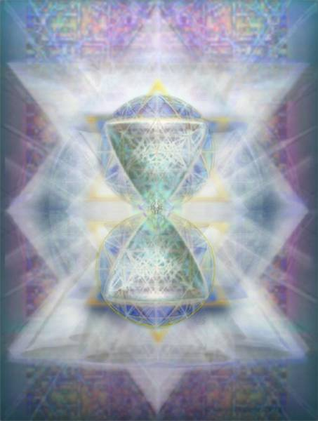 Digital Art - Synthesphered Chalice Fifouray Star On Tapestry by Christopher Pringer