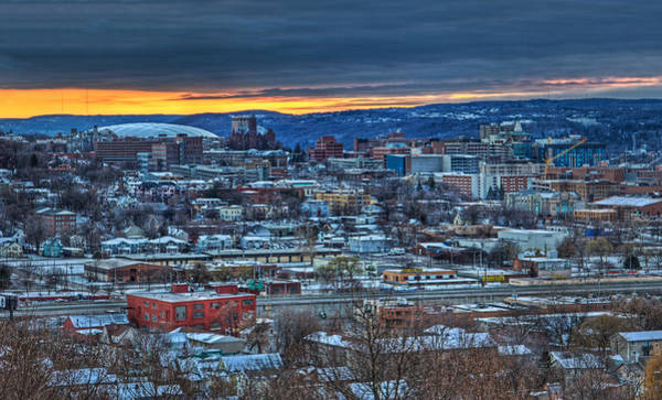 Neighborhood Photograph - Syracuse At Sunset by Everet Regal