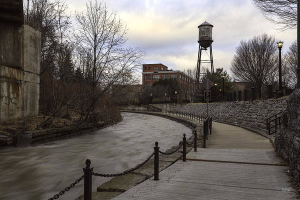 Square Tower Photograph - Syracuse Creekwalk by Everet Regal
