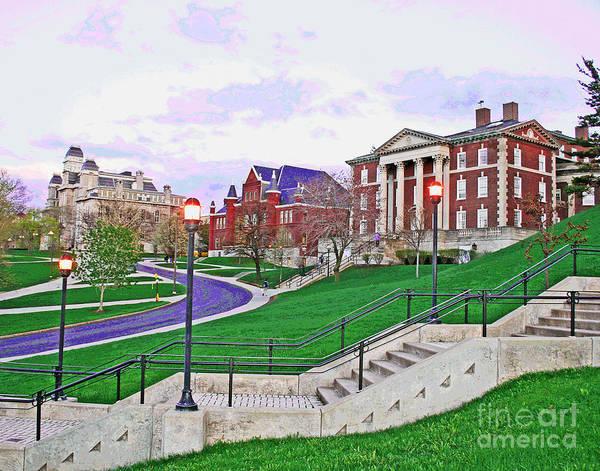 Photograph - Syracuse University Lights by Larry Oskin