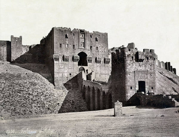 Wall Art - Photograph - Syria Aleppo Fortress by Granger