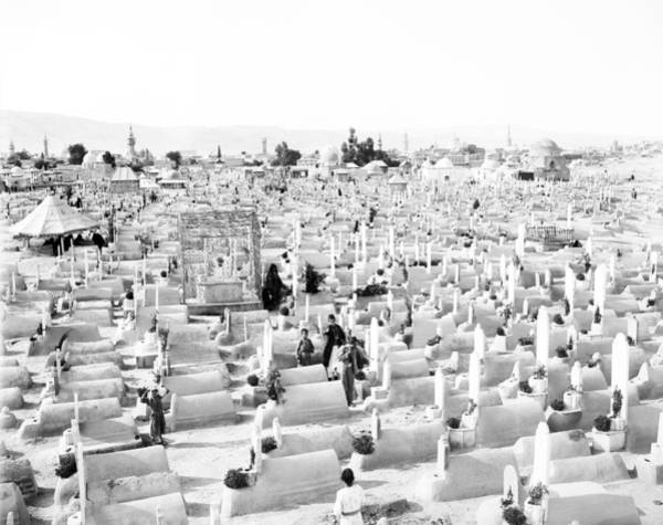 Damascus Photograph - Syria Cemetery, C1910 by Granger