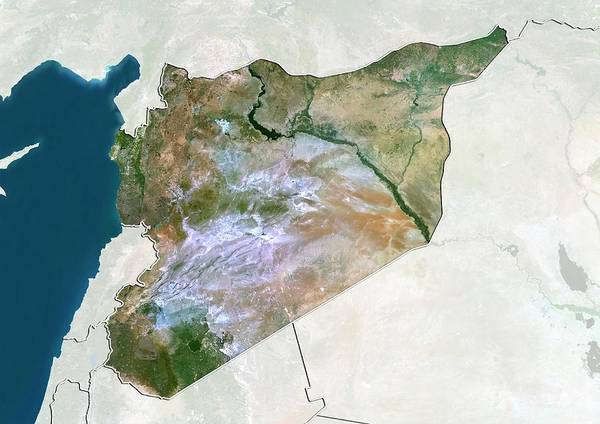 Landsat 7 Wall Art - Photograph - Syria by Planetobserver/science Photo Library
