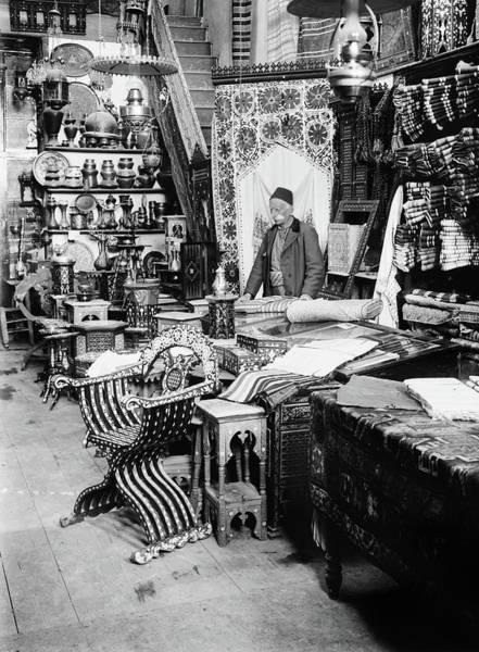 Damascus Photograph - Syria Shop, C1910 by Granger