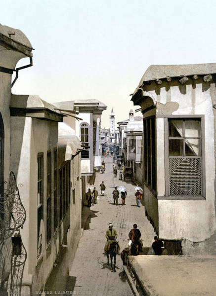 Damascus Photograph - Syria Street, C1895 by Granger