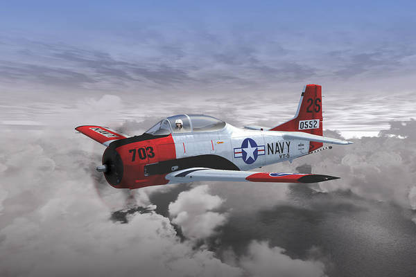 Digital Art - T-28c Vt-5 by Mike Ray