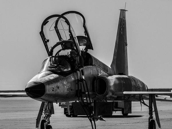 Wall Art - Photograph - T-38 Talon Black And White by Philip Rispin