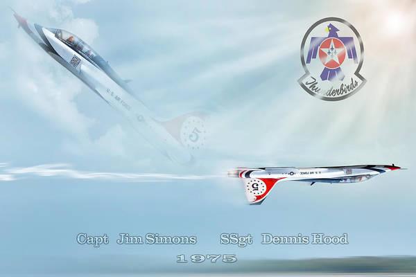Thunderbird Wall Art - Digital Art - T-38 Teammates by Peter Chilelli