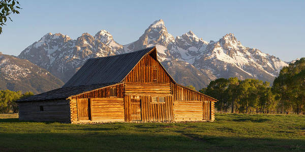 Photograph - T. A. Moulton Barn And The Tetons by Aaron Spong