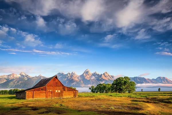 Barn Photograph - T. A. Moulton Barn At Sunrise by Dean Fikar
