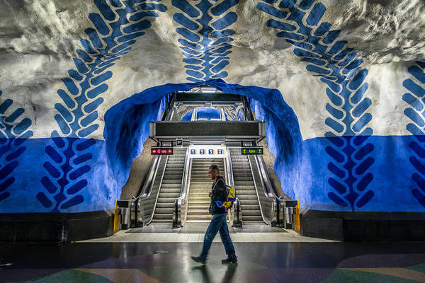Konica Wall Art - Photograph - T-centralen Stockholm Sweden by Giuseppe Milo