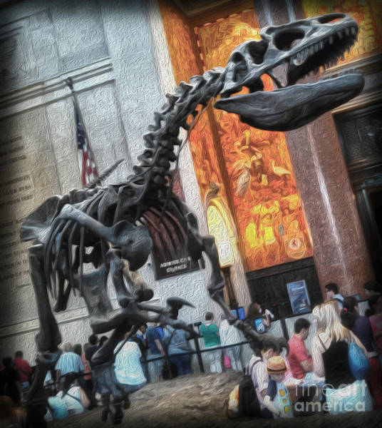 Photograph - T-rex At The Museum Of Natural History by Gregory Dyer