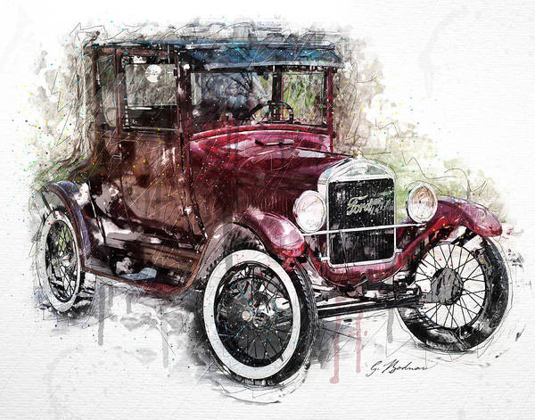 Wall Art - Digital Art - The 1926 Ford Model T by Gary Bodnar