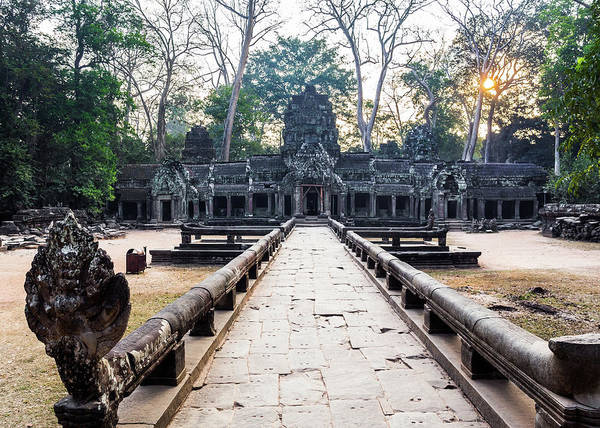 Cambodian Photograph - Ta Prohm Temple At Sunrise, Angkor by Miha Pavlin