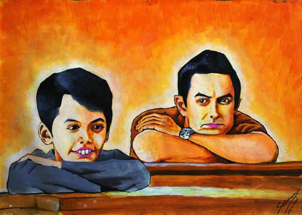 Bollywood Wall Art - Painting - Taare Zameen Par by Salman Ravish