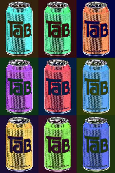 Soda Pop Painting - Tab Ode To Andy Warhol Black by Tony Rubino